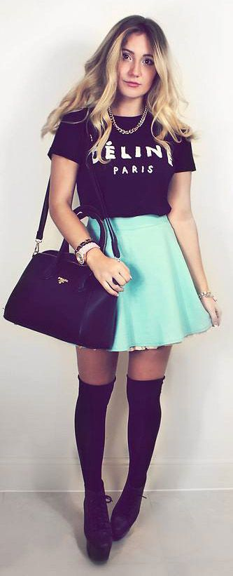20 Style Tips On How To Wear Skater Skirts, Outfit Ideas | Gurl.com