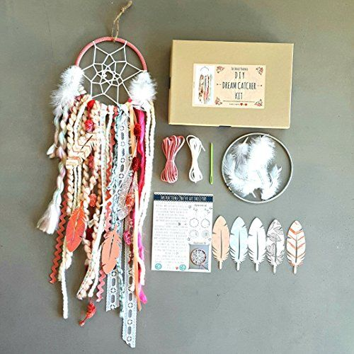 Pink DIY Dream Catcher Kit. The Perfect DIY Birthday Gift Craft Project. The Do It Yourself Gift of 2018. Boho Decor for Baby Girl's Nursery.: Amazon.ca: Handmade