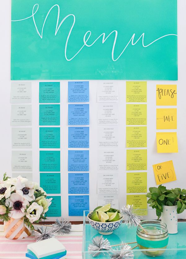 Post-it Brand Cocktail Party Idea