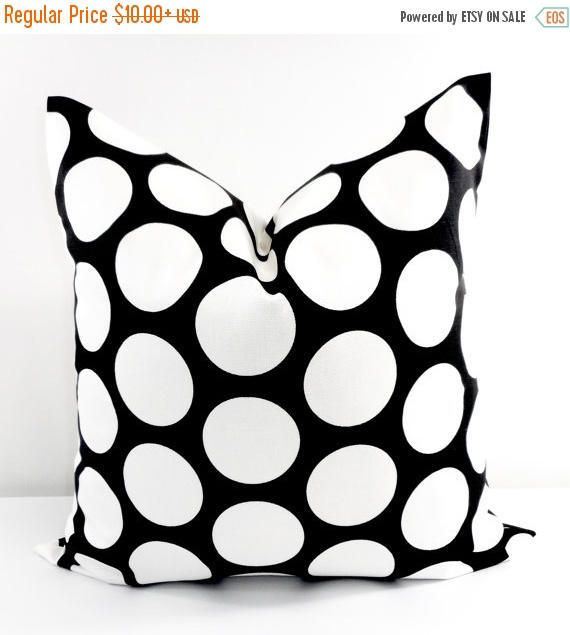 SALE Black Pillow cover. Black  and white sham cover. Dandie
