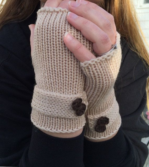 Fingerless Gloves Gloves with Bow Wrist by WendysWonders127