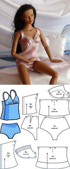 2-Piece Set - сорочка и брюки :: Шьем для кукол