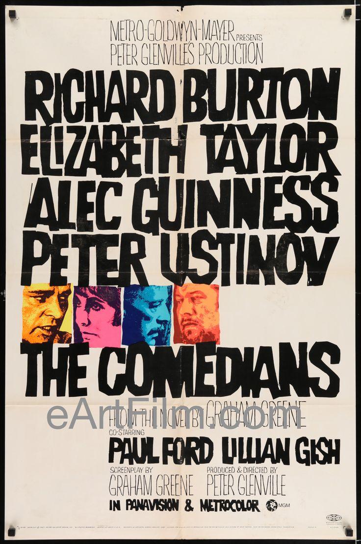 Comedians-Elizabeth Taylor-Richard Burton-Lillian Gish-Style A-1967-27x41