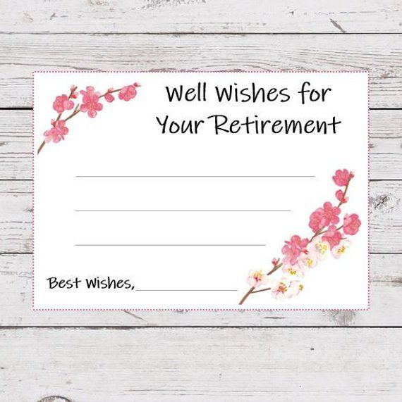 photo about Retirement Card Printable titled Retirement Would like Printable Playing cards, Properly Needs for