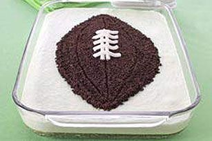 Make it myself kind of cake.  Or buy a sheet cake at the store and make my own football on top.