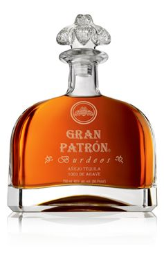 GRAN PATRÓN BURDEOS  This handmade, luxury añejo tequila is made from the finest 100% Weber blue agave from the Highlands of Jalisco. It is matured in a combination of new American and French Oak barrels and aged for a minimum of 12 months. It is then distilled again before it is racked in vintage Bordeaux barrels, from the finest French chateaux (Burdeos means Bordeaux in Spanish). The taste is smooth and sweet; with great body and a long-lasting finish, it offers notes of oak, light agave…