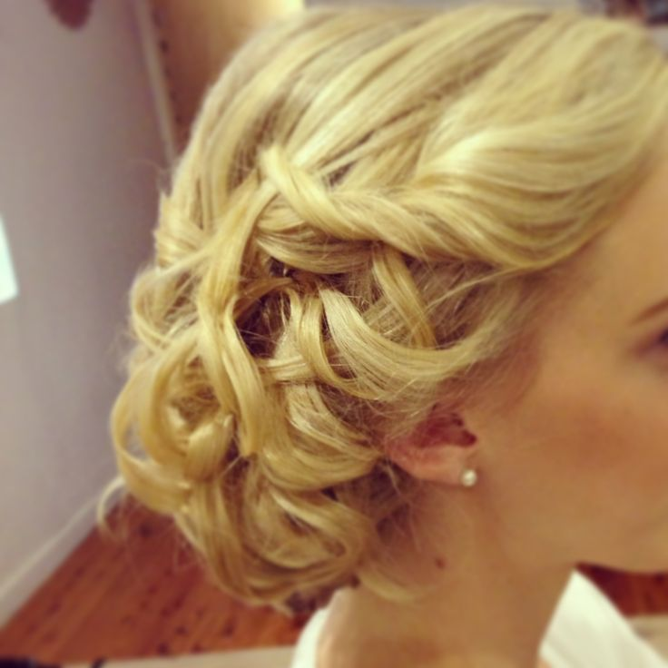 side updo bridal hairstyles by anna poshe pinterest