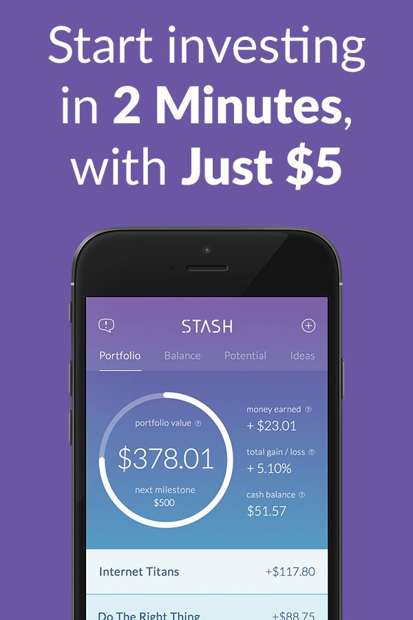 Stash is an easier way to save and invest. Download the free app to get started. Disclosure: Investing involves risk. Content is hypothetical in nature. See stashinvest.com for more information.
