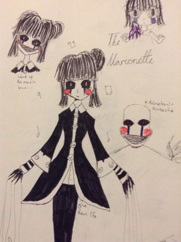 Yeah drawings!!! This was my first version of the marionette lel