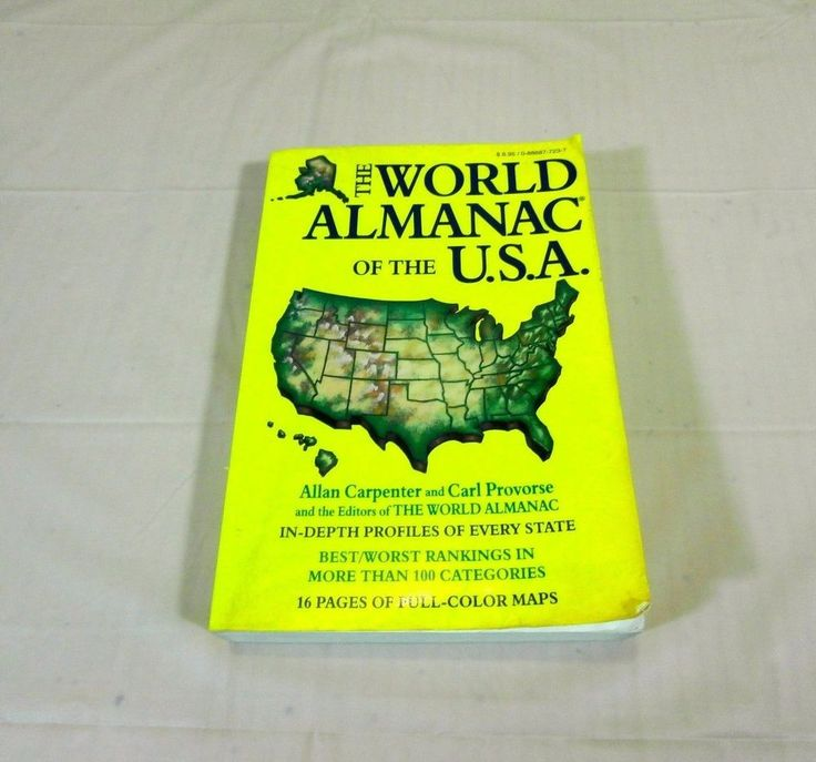The World Almanac of the U.S.A. by Allan Carpenter and Carl Provorse 1993