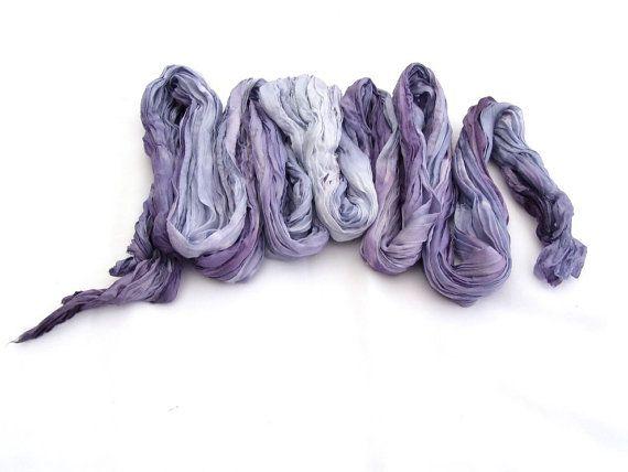 Amethyst scarf Spring silk scarf Crinkle purple scarf by HEraMade