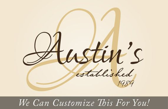 Family Name Custom Personalize With Fancy Flourishes And