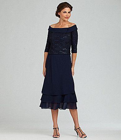 Alex Evenings Tealength Lace Dress Dillards For Mom