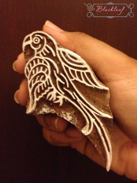 Wood Block Printing Hand Carved Indian Wood by BlackleafArt, $15.00