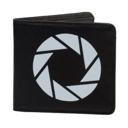 Portal 2 Aperture Labs leather wallet