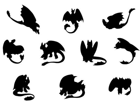 Toothless dragons svgToothless dragons by ArtPrintsLab on Etsy