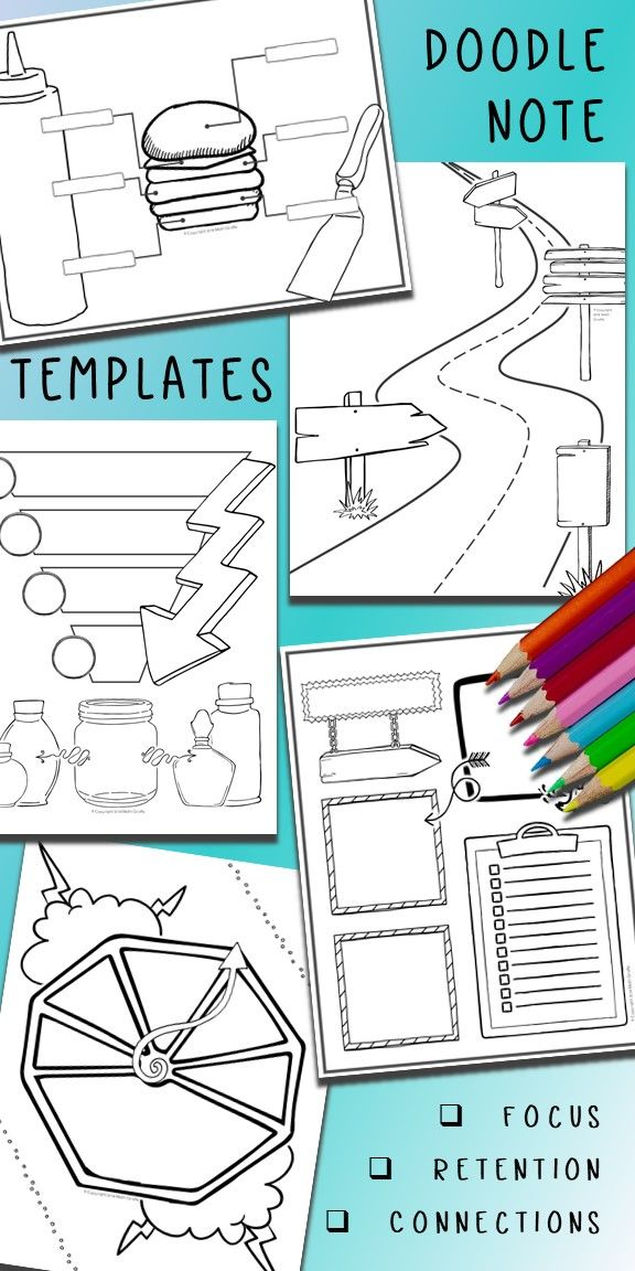 editable doodle note templates bundle math giraffe products tpt