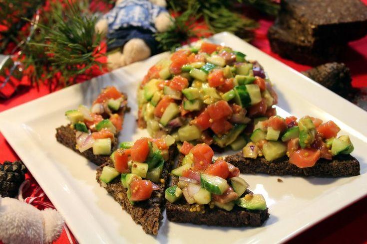 Закуска а-ля тар-тар из лосося — Кулинарная книга - рецепты с фото