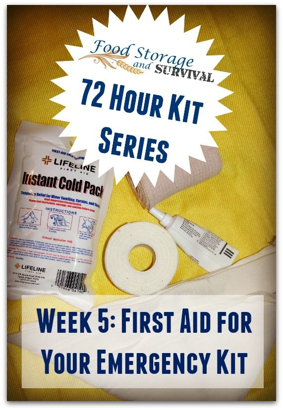 Build your 72 hour emergency kit one week at a time! This week's focus is first aid and medical supplies for your kit!