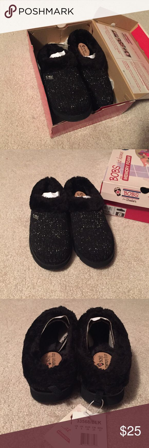New! Bobs slippers Brand new Bobs for Skechers slippers with memory foam. Size 8. Skechers Shoes Slippers