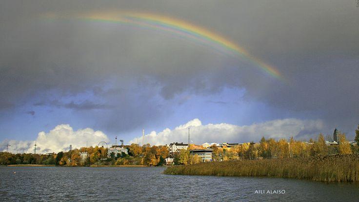 Autumn day in Töölönlahti , Helsinki by Aili Alaiso