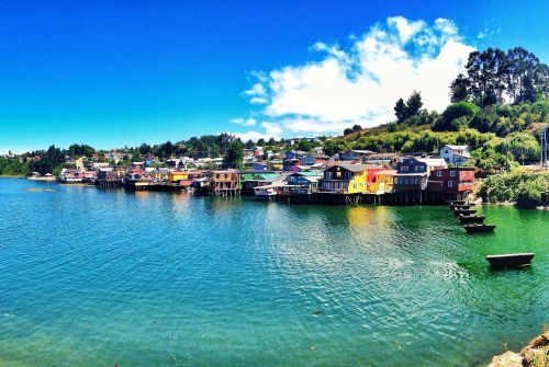 Palafitos everywhere. Castro, Chiloe