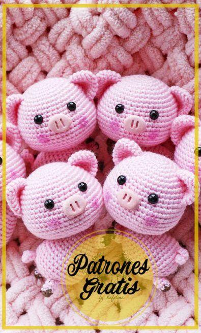 Yarn Crafts, Crochet Hats, Free Crochet, Funny Rabbit, Pigs, Free Pattern, Funny Bunnies, Knitting Hats