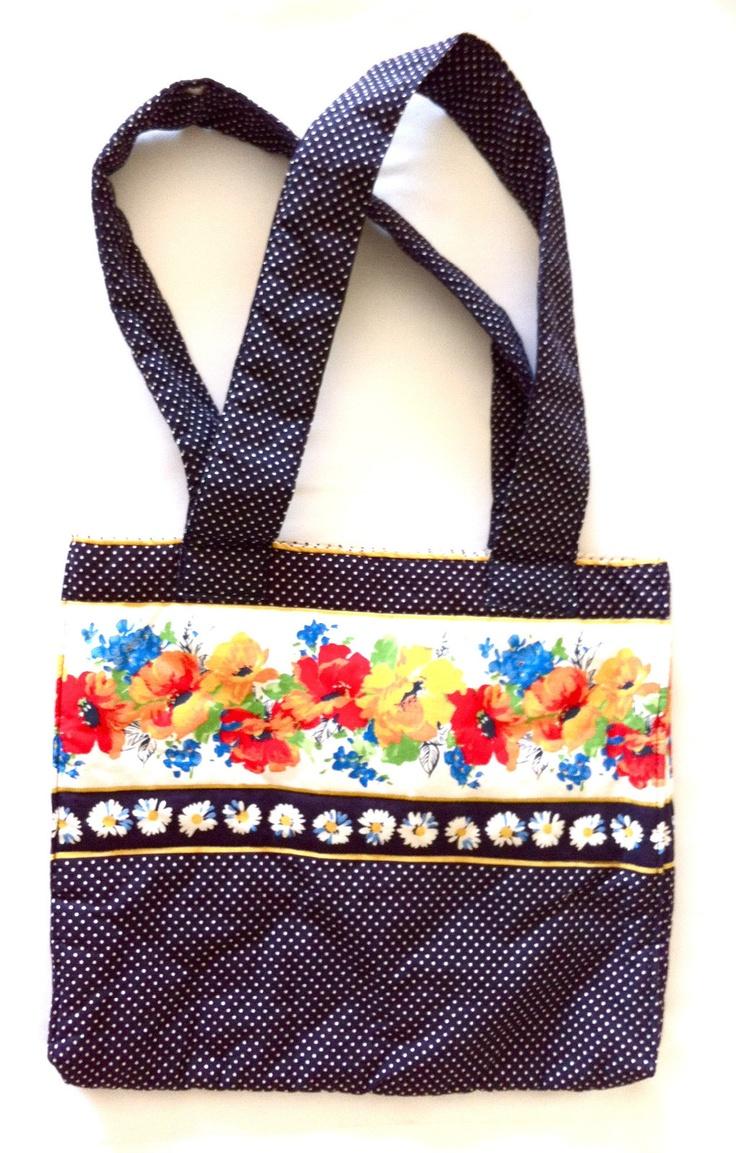 Vintage Floral Polka Dot Tote Bag Purse by Sulltes and Seawinds Limited | eBay