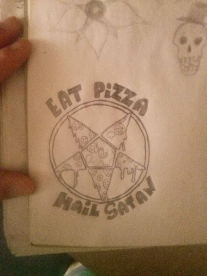 eat pizza hail satan sketch