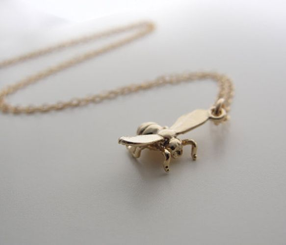 Gold Honey Bee Necklace