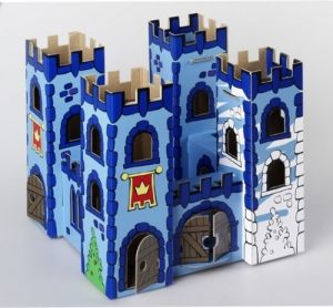Dragon Rock Cardboard Castle. Pre-cut pieces and printed lines - just need to assemble and add your favourite colours. $19.99