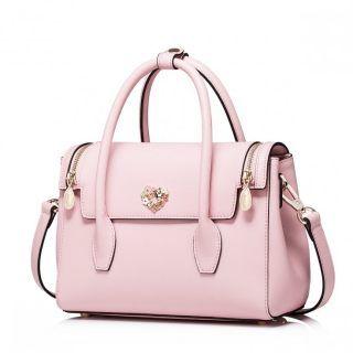 NUCELLE Elegancka damska torebka do ręki Różowa