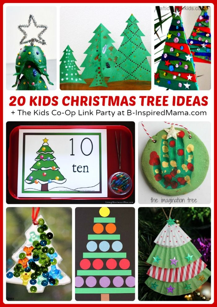 Christmas Tree Christmas Activities for Kids + The Kids Co-Op Link Party - B-Inspired Mama