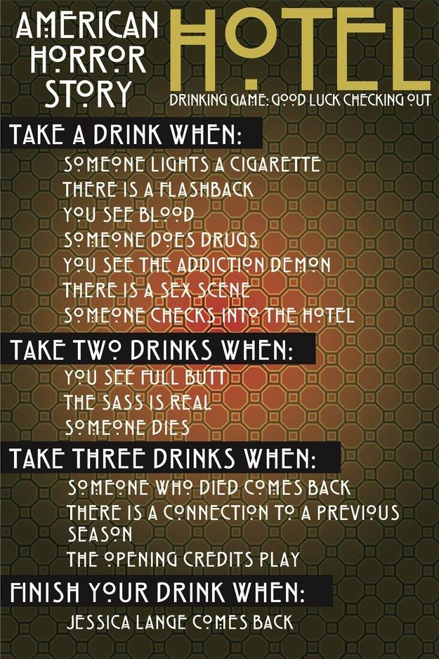 "The Ultimate ""American Horror Story: Hotel"" Drinking Game"