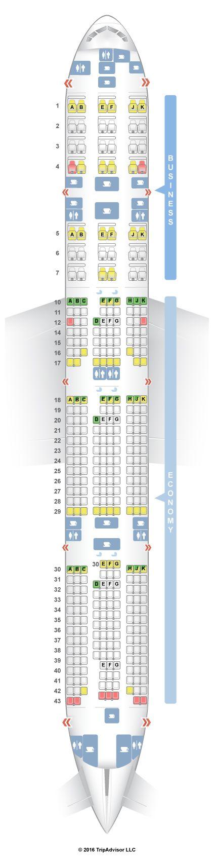 SeatGuru Seat Map Qatar Airways Boeing 777-300ER (77W) V1 - SeatGuru