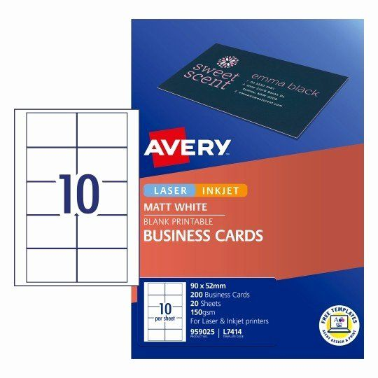 Avery Template 28371 Business Cards Beautiful Matt Finish Business Cards Business Card Template Word Create Business Cards Card Template
