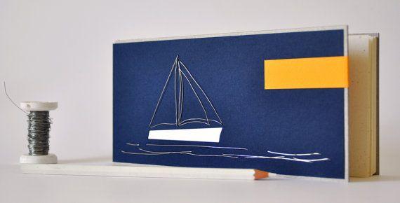 "Etsy Greek Street Team: May Giveaway: win a handmade ""sailboat"" notebook"