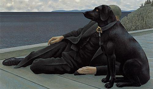Dog and Priest - Alex Colville