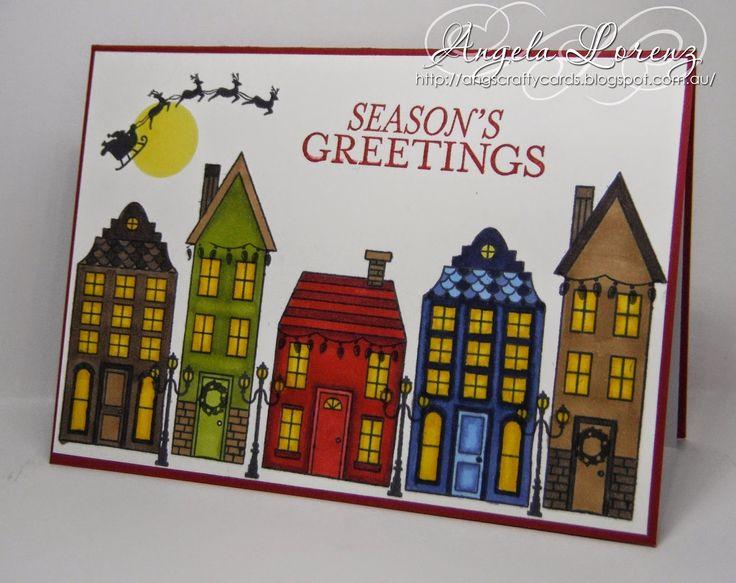 Holiday Home, Stampin Up, Bright & Beautiful, Angela Lorenz