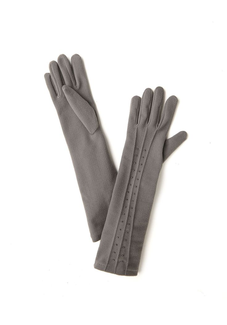 Luxury You've Longed For Gloves. No need to pine for classy events and elegant evenings - just slip into these long grey gloves, and create an instant vision of luxury. #grey #modcloth
