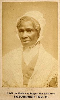 Sojourner Truth was born in 1797 on the Colonel Johannes Hardenbergh estate in Swartekill, in Ulster County, a Dutch settlement in upstate New York. Her given name was Isabella Baumfree. She was one of 13 children born to Elizabeth and James Baumfree, also slaves on the Hardenbergh plantation. She spoke only Dutch until she was sold from her family around the age of 9.