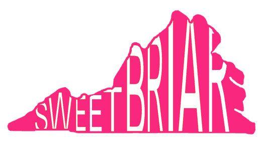 Sweet Briar College Monogram Sticker Vinyl Decal Sticker