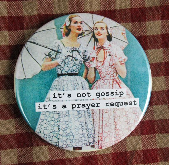 Funny magnet It's not gossip it's a prayer by picardcreative, $4.75