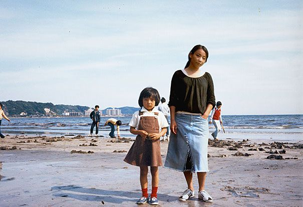 """London-based Japanese photographer Chino Otsuka took old photos from her childhood and adolescence and put pictures of her present self in them, creating bittersweet double self-portraits.  """"The digital process becomes a tool, almost like a time machine, as I'm embarking on the journey to where I once belonged and at the same time becoming a tourist in my own history,"""" said the photographer."""