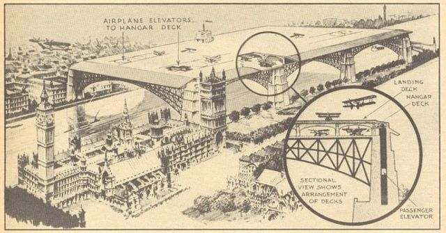Unbuilt London: The Transport Schemes That Never Were | Londonist  Westminster Airport - 1930's