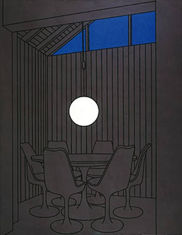 Patrick Caulfield 1972 painting, Dining Recess