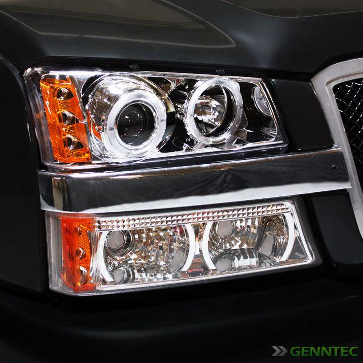 For 2003-2006 Chevy Silverado Twin Halo LED Pro Headlights Head Lights Pair
