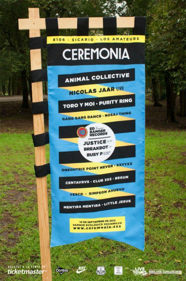 Festival Ceremonia Sábado14 de septiembre Parque Ecológico de Xochimilco. Los boletos seguirán en el rango de precios de $ 700 general y 1,100 VIP  hasta el 4 de julio, después del jueves 4 de julio  los boletos tendrán un precio de $750 general y $1,350 VIP