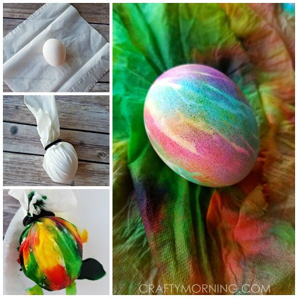 This popular tie dye Easter egg decorating idea is going around (saw it on One Little Project) and just had to try for myself! She used neon food coloring but I wanted to see how it'd look with just regular ones. Supplies Needed: Food Coloring Hard boiled egg Kleenex or Paper Towel Rubberband/hair binder Spray …