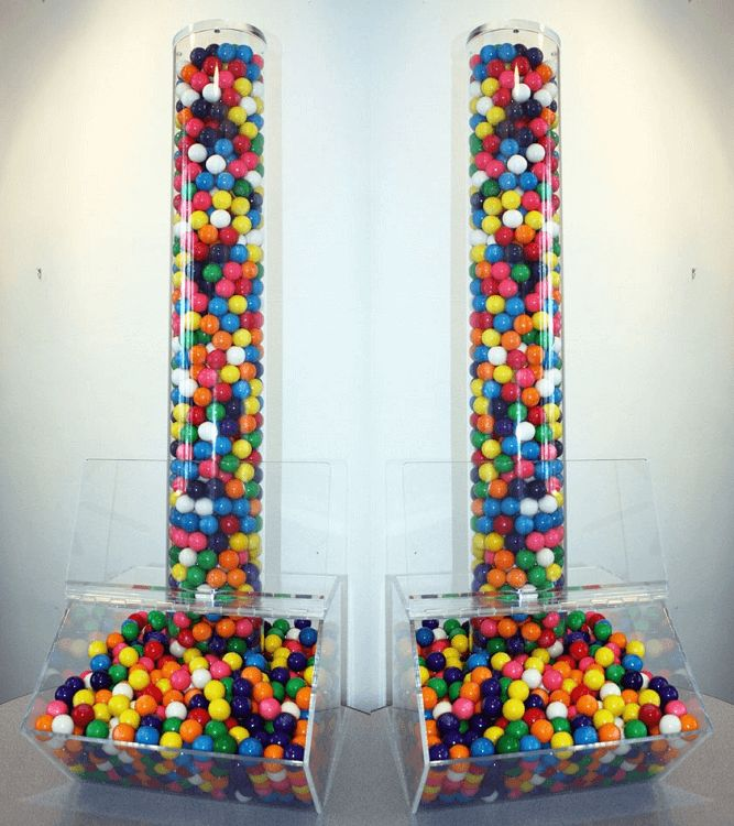Candy Bin With Acrylic Tube Attached | Acrylic Candy Dispenser